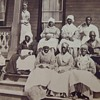 "Stereoview of Ex- Slaves at the ""Colored Home"" in Florida"