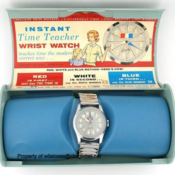 1963 Bradley Instant Time Teacher watch in Original Box - Wristwatches