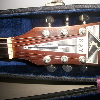 1950s Kay electric full hollow body guitar. 