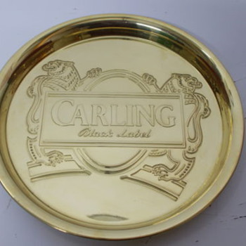 CARLING BLACK LABEL SOLID BRASS TRAY
