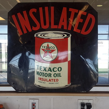 Texaco curb sign