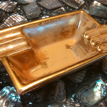 "1953 Stangl ""Granada Gold"" ashtray"