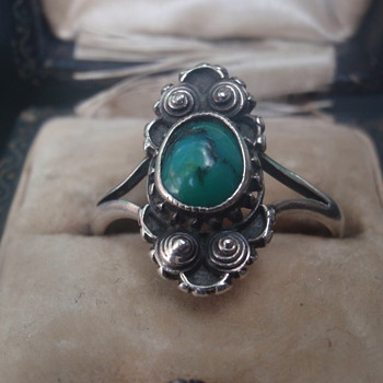 Arts & Crafts Turquoise Ring