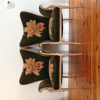 Art Deco Hollywood Regency chairs - Art Deco
