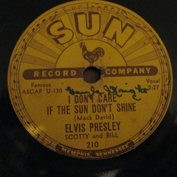 Elvis presley Sun label 78 rpm record