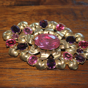 Giant Pink Brooch - Costume Jewelry