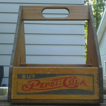 Pepsi Cola Wood Carrier - Advertising