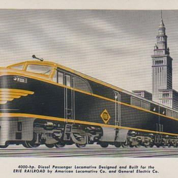 Erie & PRR Diesels - Railroadiana