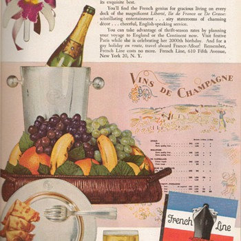 1952 - French Line Advertisement - Advertising