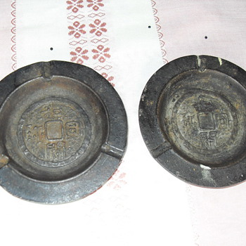 VINTAGE JAPANESE CAST IRON ASHTRAY