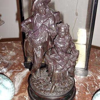 Antique German Terracotta Statue Figurine - Victorian Era