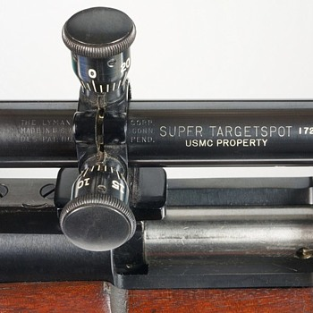 USMC Remington 40X Rifle with a USMC Lyman Super Targetspot - Military and Wartime
