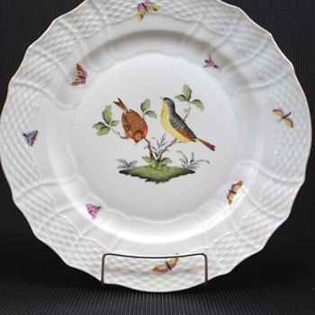 HEREND ROTHSCHILD BIRD SERVICE PLATE MOTIF #7 - China and Dinnerware