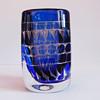 Ariel vase with geometrc designs - Ingeborg Lundin (Orrefors)