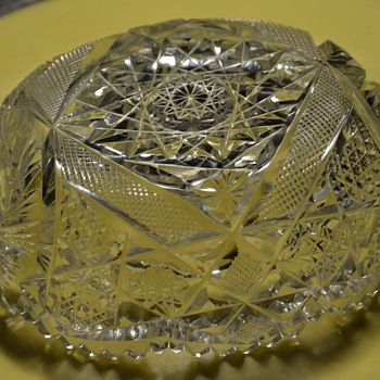 Small Candy Dish?  more cut crystal - Glassware