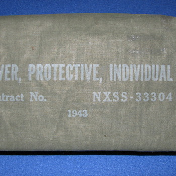 1943 WWII Era Protective Cover for Vesicants - Military and Wartime