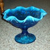 Fenton Electric Blue Compote
