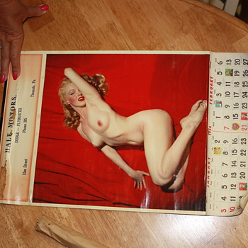 1954 calendar  - Advertising