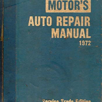 1972 Motor's Auto Repair Manual - Books