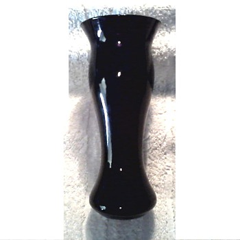 Purple/Black Glass Vase / Unknown Maker and Age - Art Glass