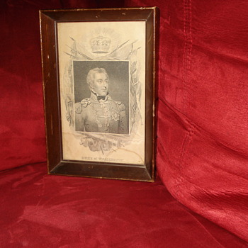 Framed Duke of Wellington Sketch print