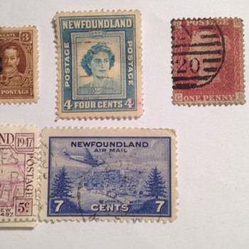 Stamps foreign found in book Newfoundland !