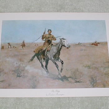 """The Flight"" by Frederic Remington"