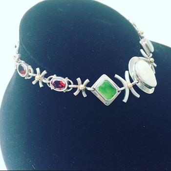 "Rare ""NILSSON"" Sterling Silver Bracelet  - Fine Jewelry"