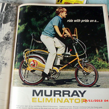 Nice 1970's boys bike ads found in Boys Life Magazines - Paper
