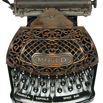 Ford typewriter - 1895  (antiquetypewriters.com) - Office