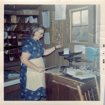 Town Post Office and My Aunt in Ardath Canada Sask then and now! - Photographs