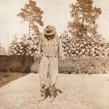 World War One Uniform Scarecrow circa 1920  Collection Jim Linderman - Military and Wartime