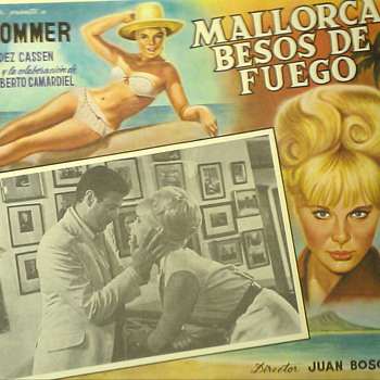 Spanish film BAHIA DE PALMA(1962) Mexican Lobby card
