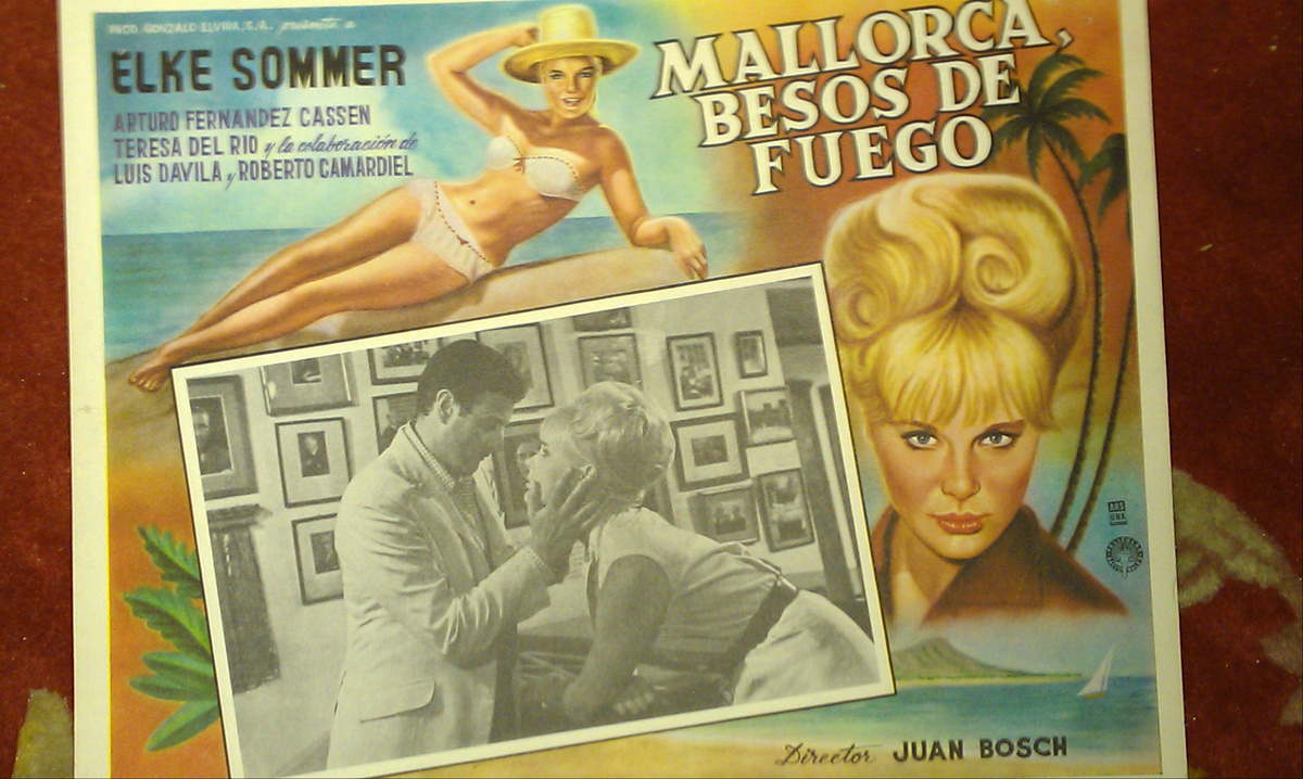 Spanish Film Bahia De Palma 1962 Mexican Lobby Card