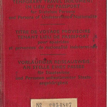 Allied Military Government travel document