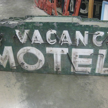 1920's Neon NO VACANCY MOTEL sign RARE! 2-sided - Signs