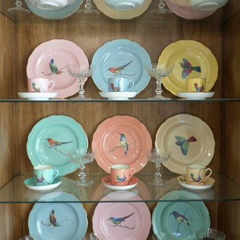 Copeland Spode Bird Plates, cups & saucers - China and Dinnerware