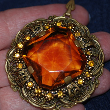 Grandmother's Huge Pendant - Costume Jewelry