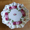Antique M Z Austria Embossed Porcelain Decorative Plate ~ Gorgeous Roses