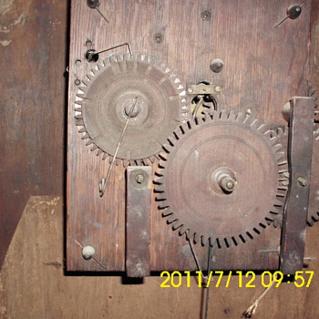 Old wooden clock works - Clocks