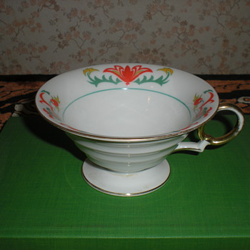 German Art Deco porcelain tea cup.