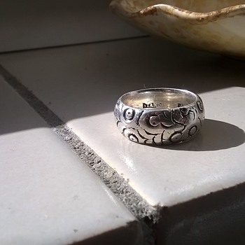 "19th Century Ring Marked ""STANDARD SILVER"", Antique Shop Find"