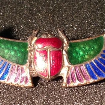 Egyptian Revival Enamel Pin - Fine Jewelry