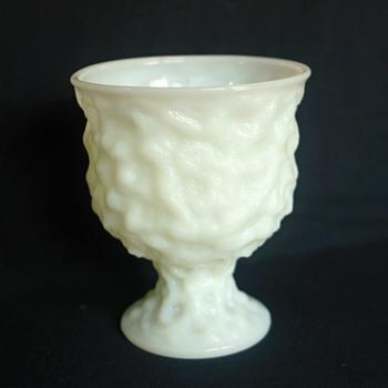E.O. Brody Co. Cleveland Milk Glass (M3000) Crinkle Glass Planter Urn - Glassware
