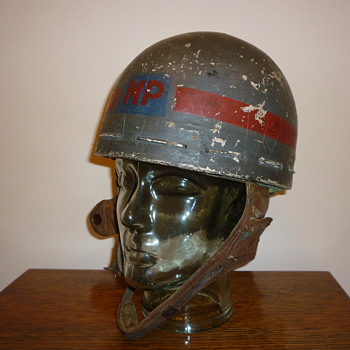 British WW11 Papier Mache and cloth MP helmet. - Military and Wartime