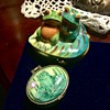 Limoges and Chen frog trinket boxes