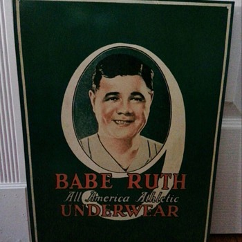 BABE RUTH ALL AMERICAN ATHLETIC UNDERWEAR - Advertising