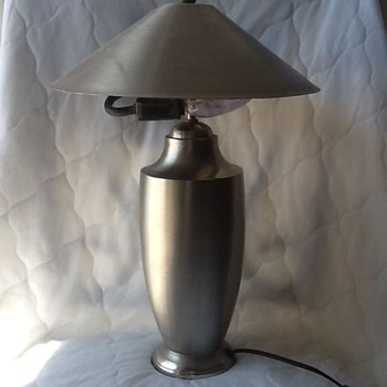 silver lamp in great shape