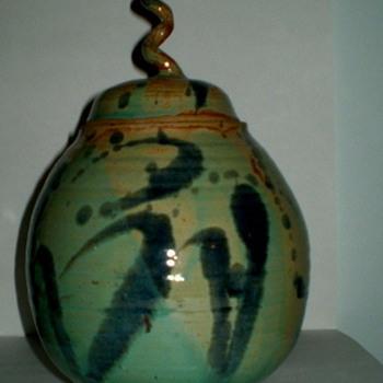 Raku Vase - Art Pottery
