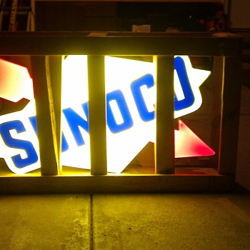 Sunoco gas station sign - Petroliana